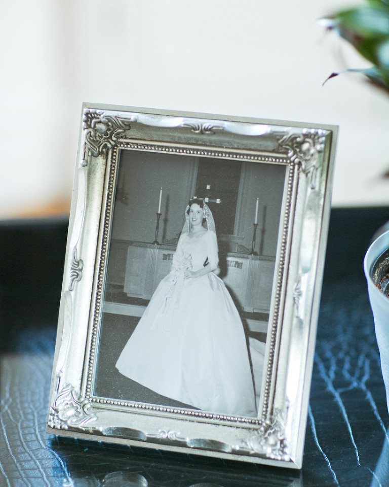 family heirlooms, mom's wedding picture