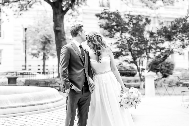 black and white wedding portraits in Mt. Vernon