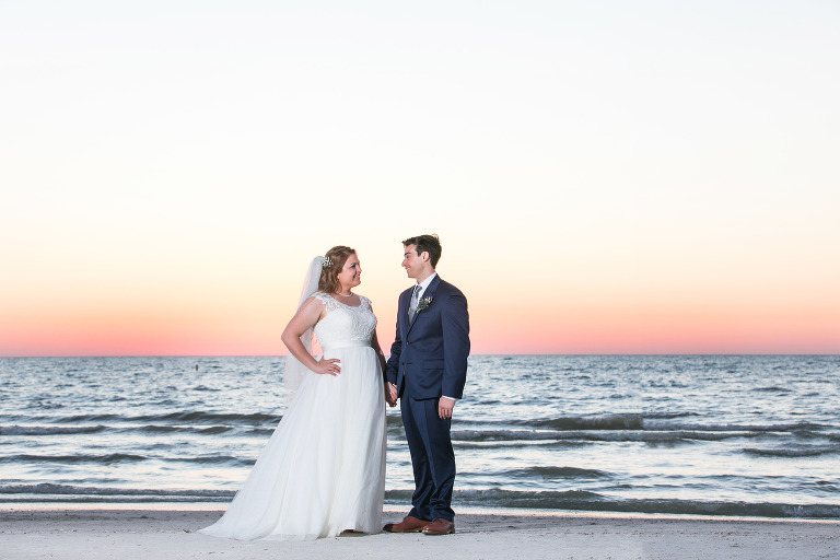 beach sunset wedding portrait baltimore